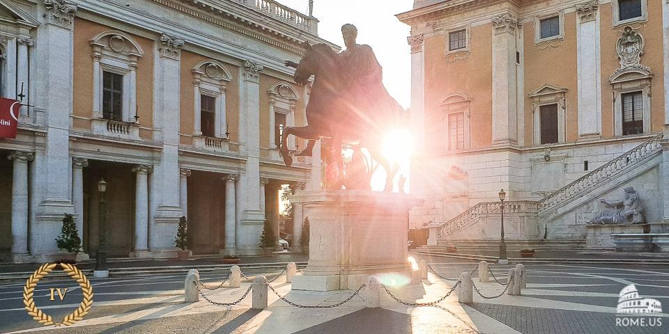Piazza del Campidoglio on Capitoline Hill