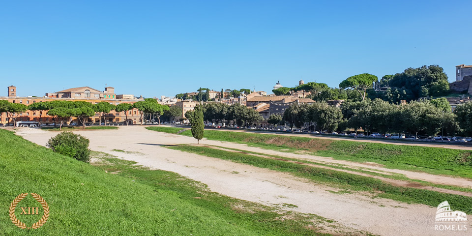 The Circus Maximus biggest racetrack of ancient Rome