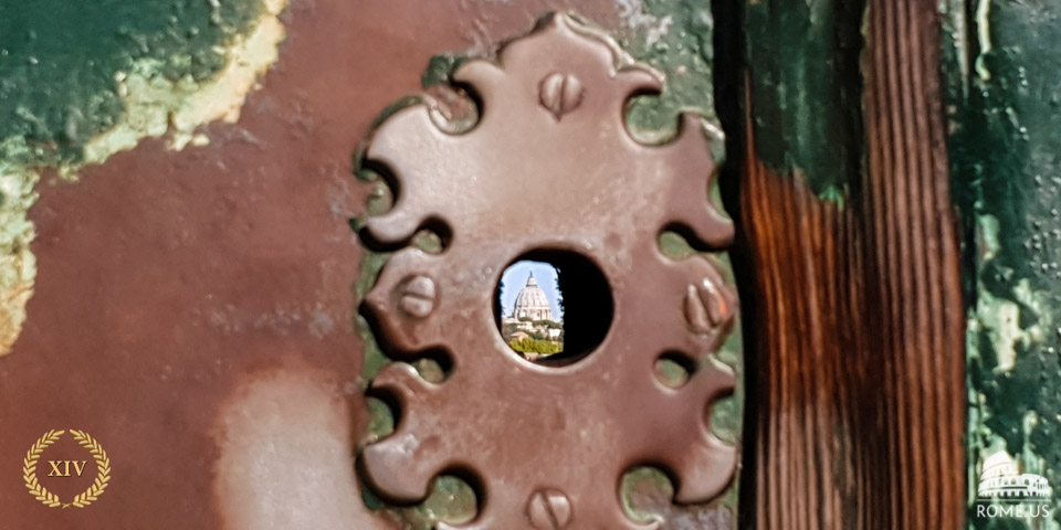 The Knights of Malta keyhole view of St. Peter's in Rome
