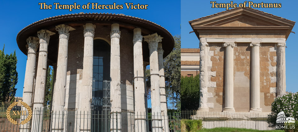 The Temple of Hercules Victor and Temple of Portunus