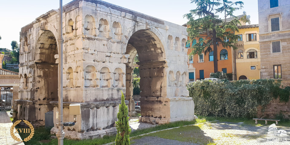 Arch of Janus in Rome, Italy