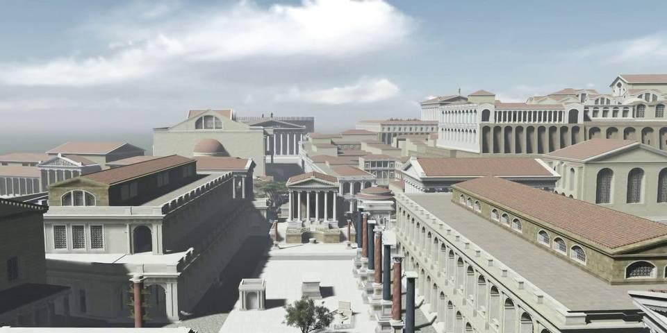3d model of Roman Forum