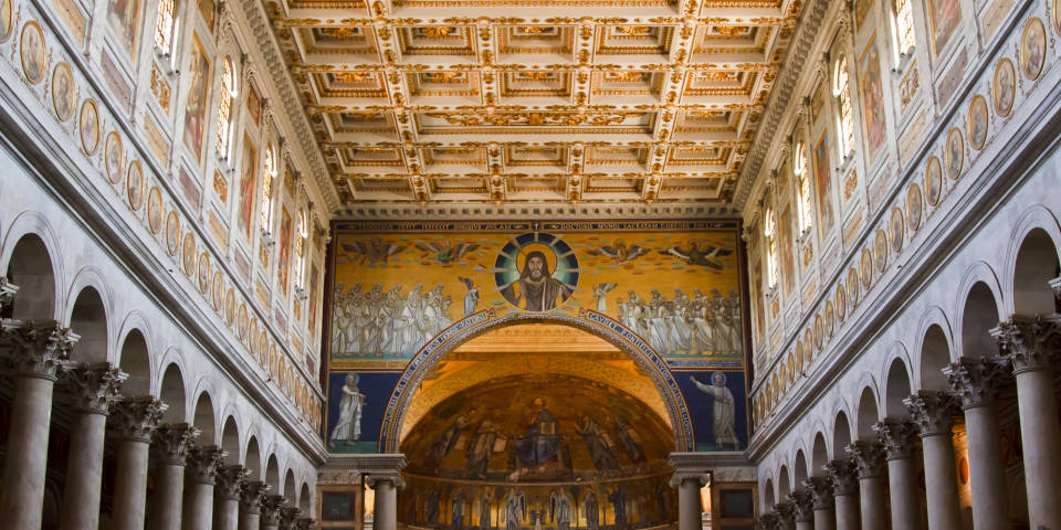 Architecture of St Paul Basilica in Rome