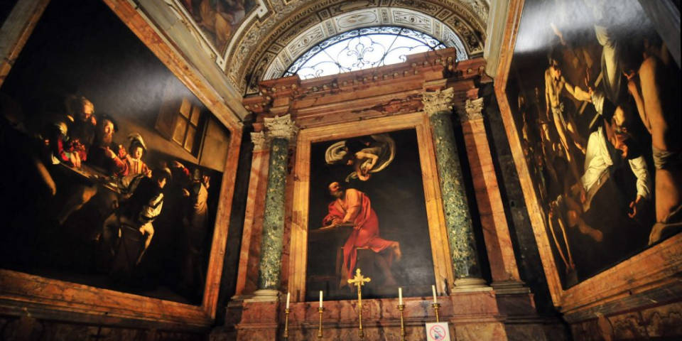Paintings by Caravaggio in Rome
