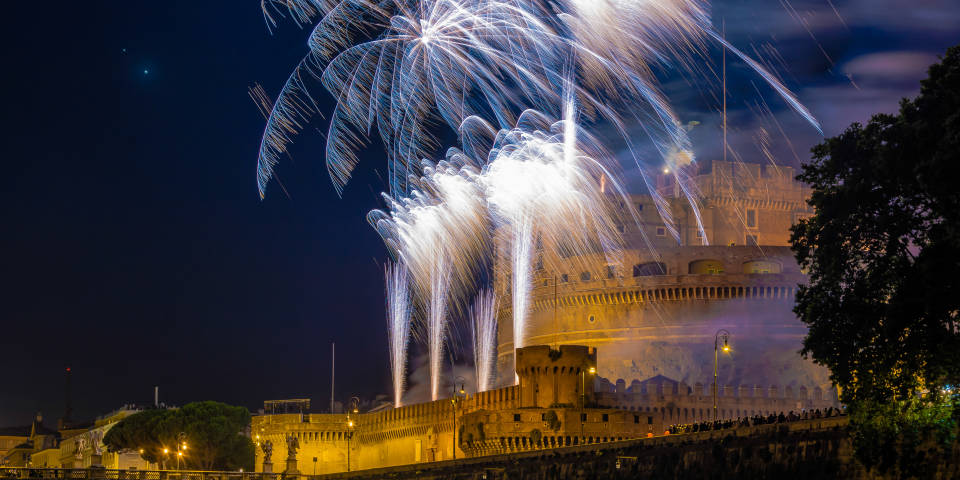 Castel St Angelo at night