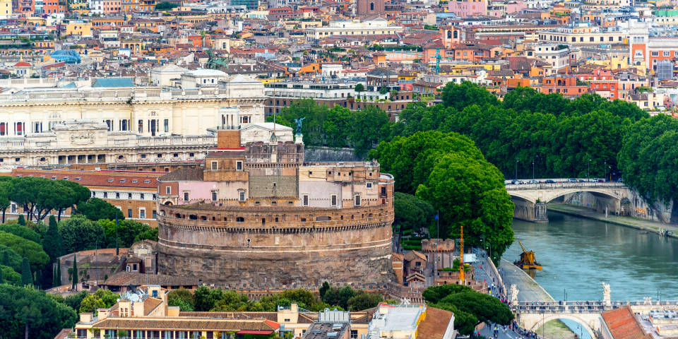 Castel St Angelo view from the air
