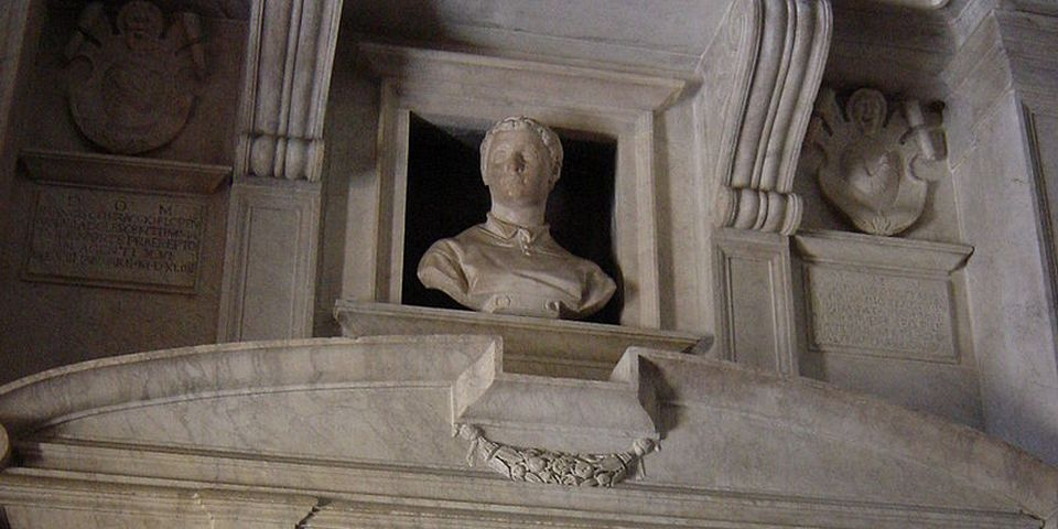 The tomb of Cecchino dei Bracci by Michelangelo