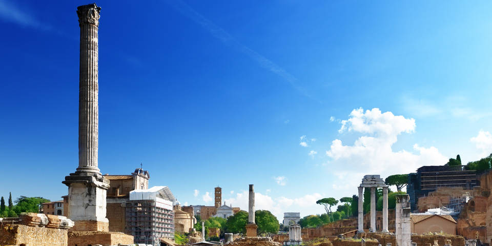 columns of the Roman Forum