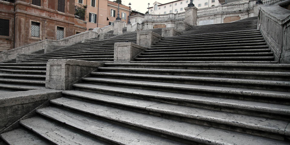 Construction of Spanish Steps