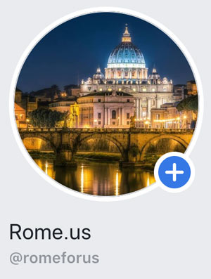Official Facebook page Rome.us website