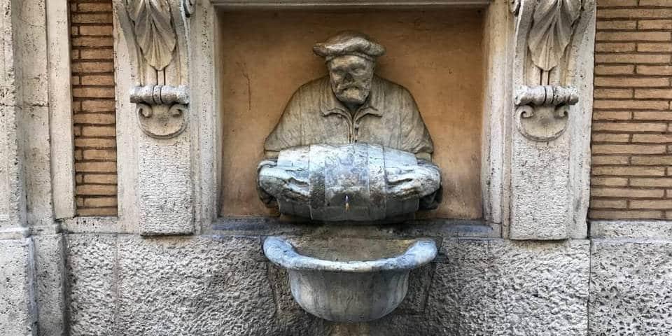 Fontana Del Facchino – The Porter Fountain in Rome