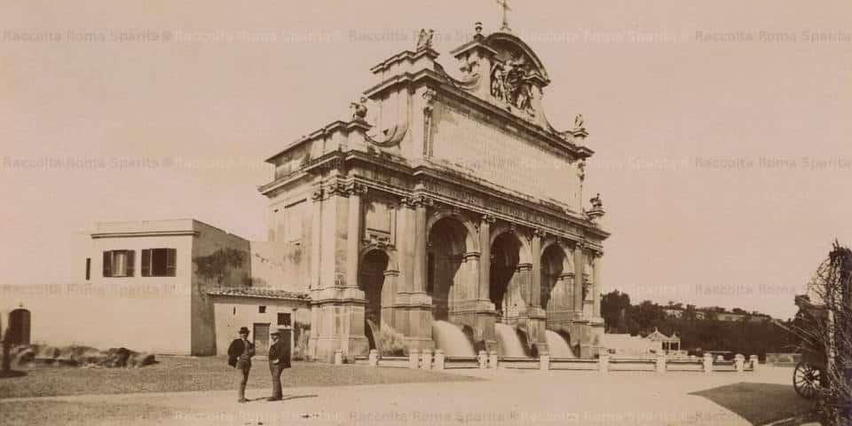 The Fountain of Acqua Paola in Rome