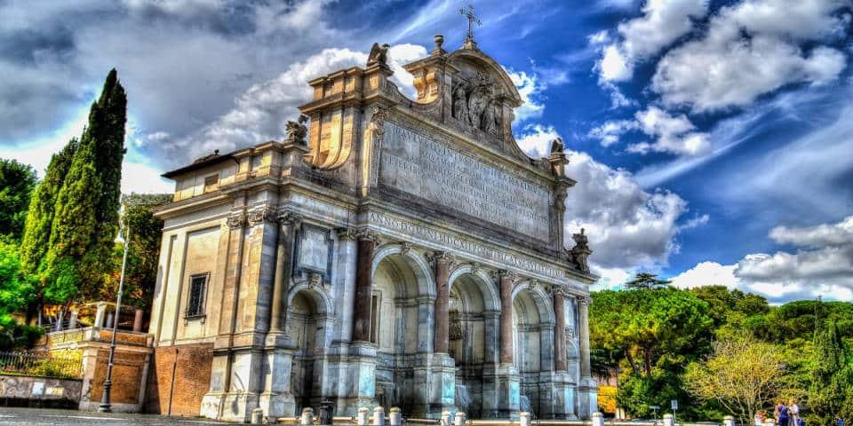 The Fountain Acqua Paola in Rome