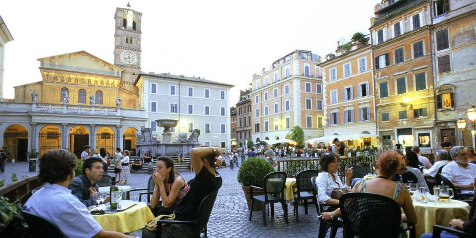Trastevere area in Rome