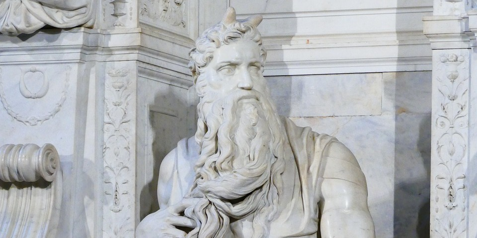 Moses by Michelangelo in Rome