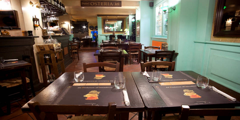 Pane Vino e San Daniele kosher restaurant in Rome