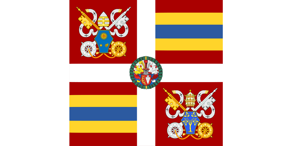 The banner of Swiss guard
