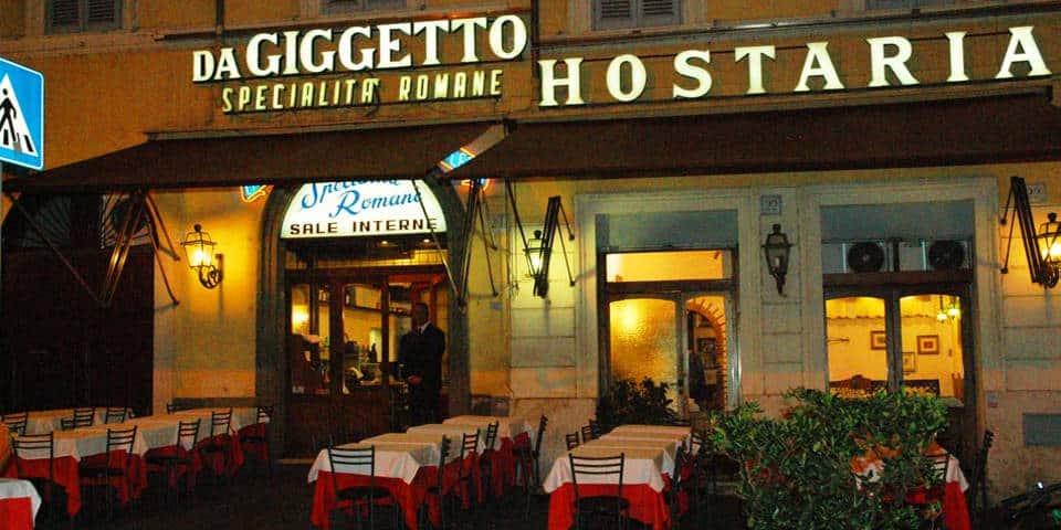 Giggetto al Portico Ottavia Kosher Restaurant in Rome