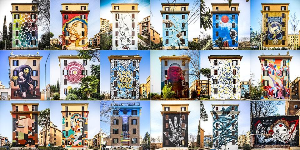 graffiti in Ostiense and Garbatella