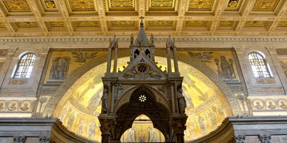 St Paul Basilica in Rome inside