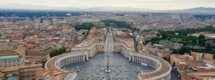 St Peter's square in Vatican city