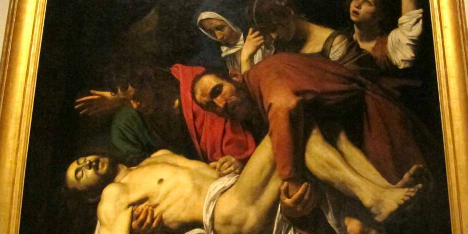 The Entombment of Christ painting
