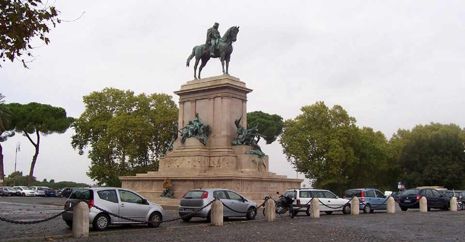 The Equestrian Monument to Giuseppe Garibaldi