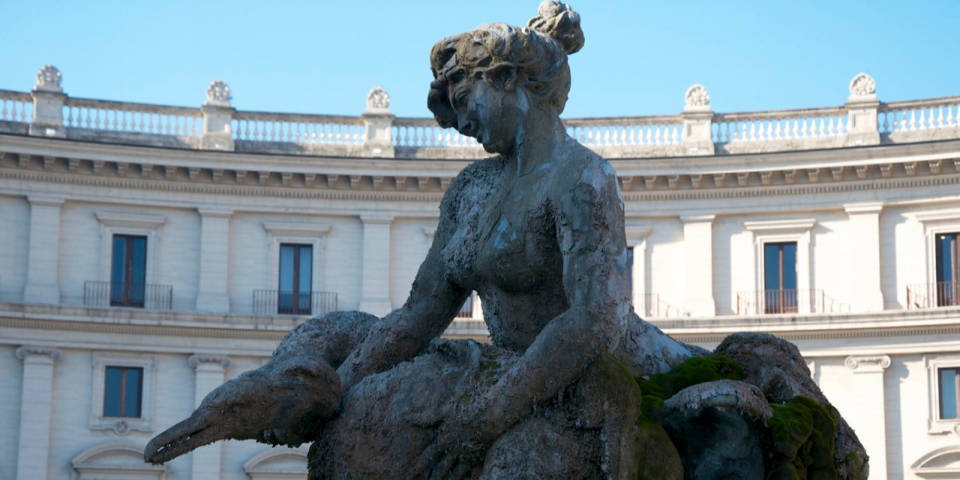 the Fountain of the Naiads in Rome