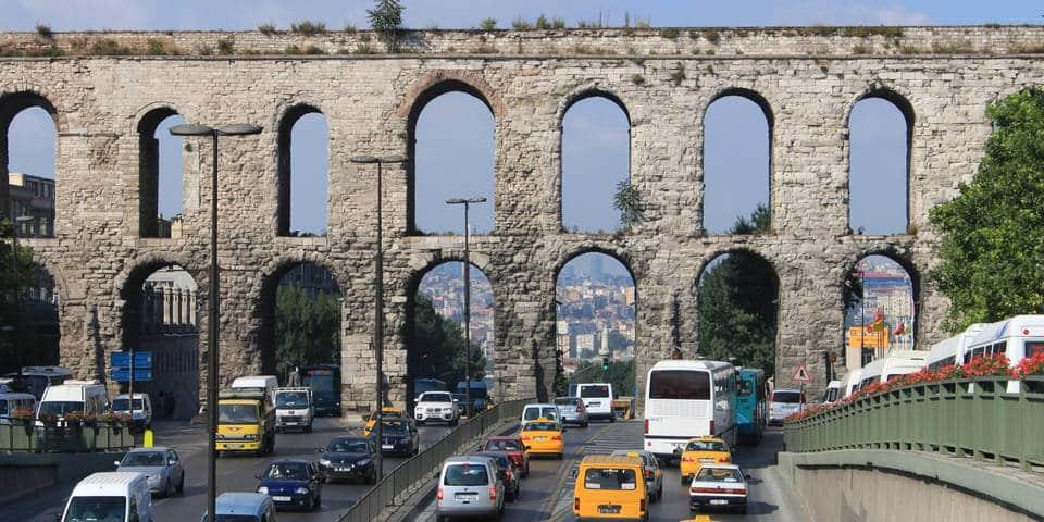 Valens Aqueduct in Istambul