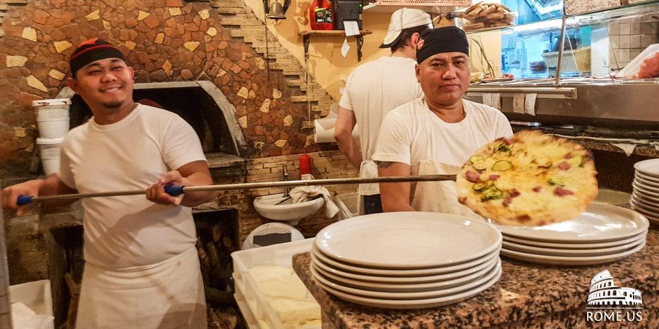 best Italian pizza in Trastevere