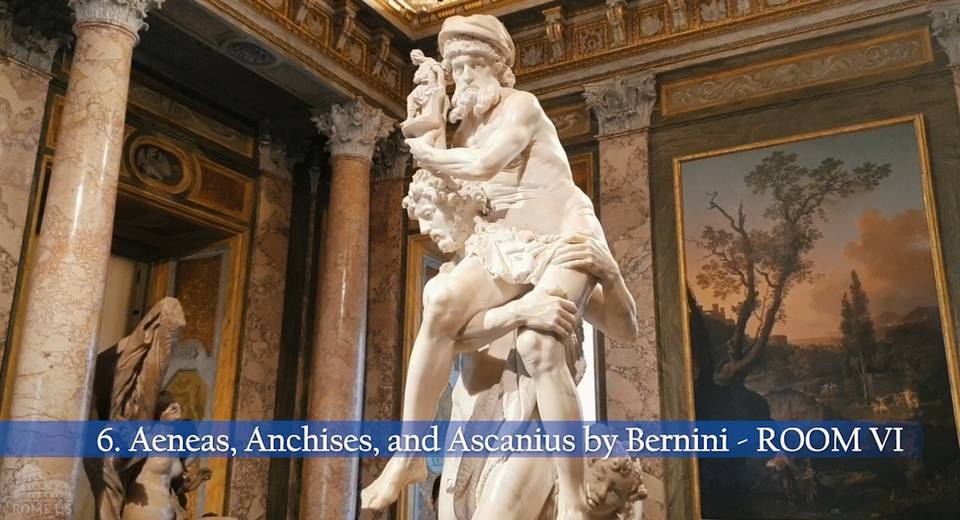 Aeneas and Anchises in the Borghese Gallery