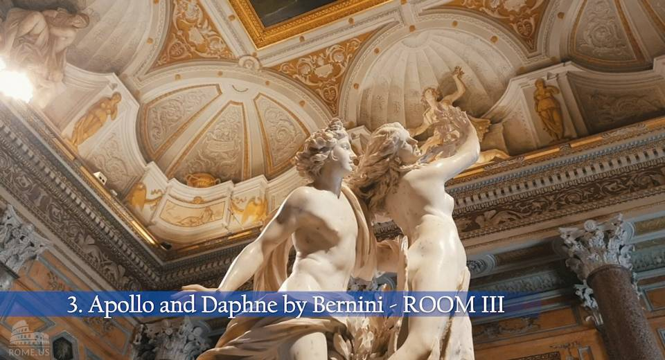 Apollo and Daphne in Borghese Gallery