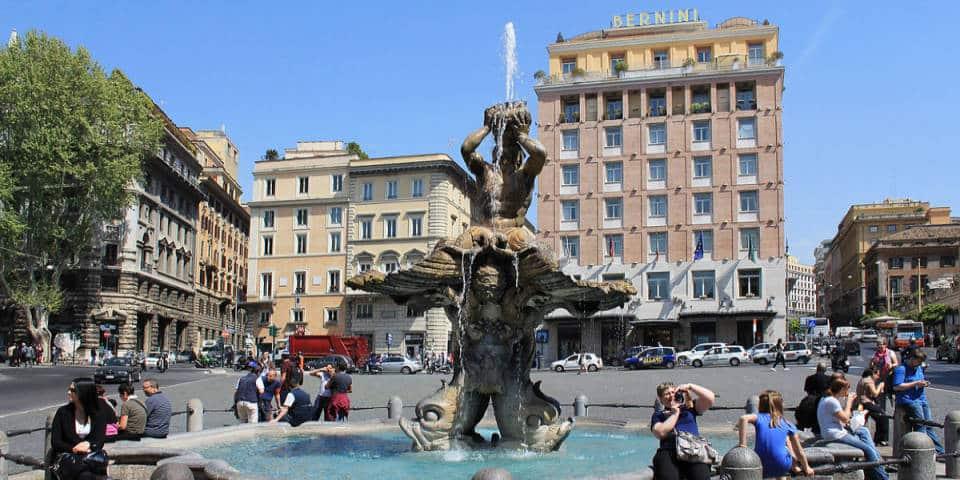 Fountain of Triton in Piazza Barberini