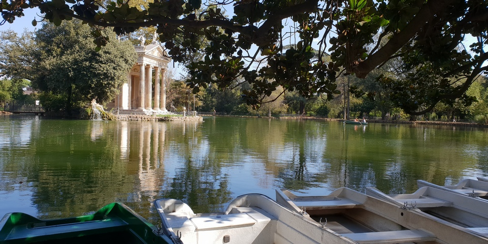 boats in villa borghese