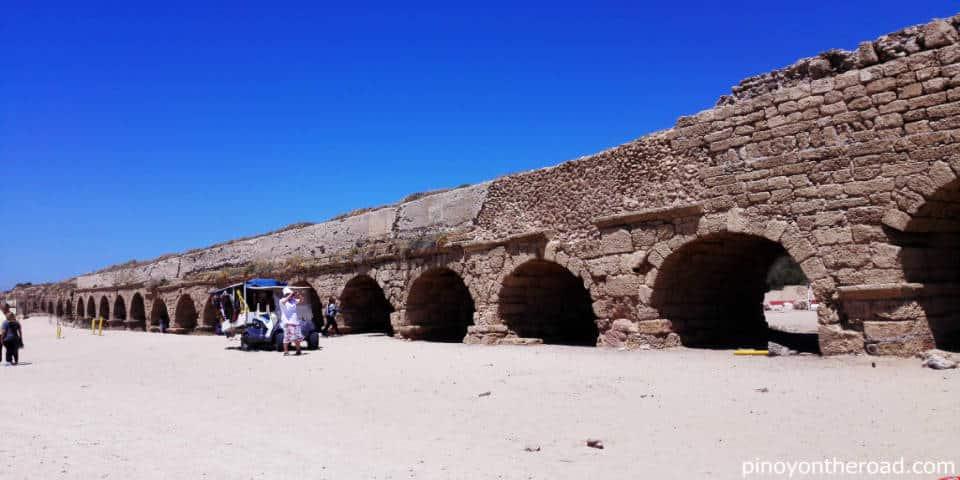 Caesarea aqueduct Israel