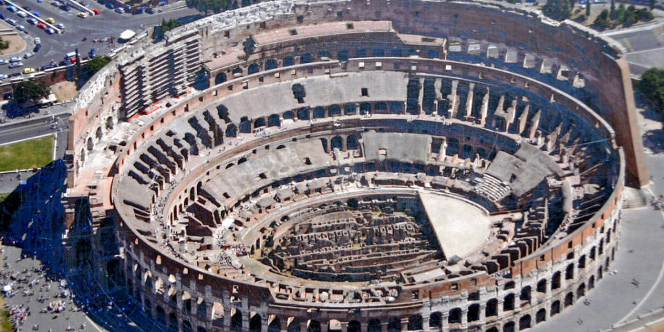 Structure of the colosseum
