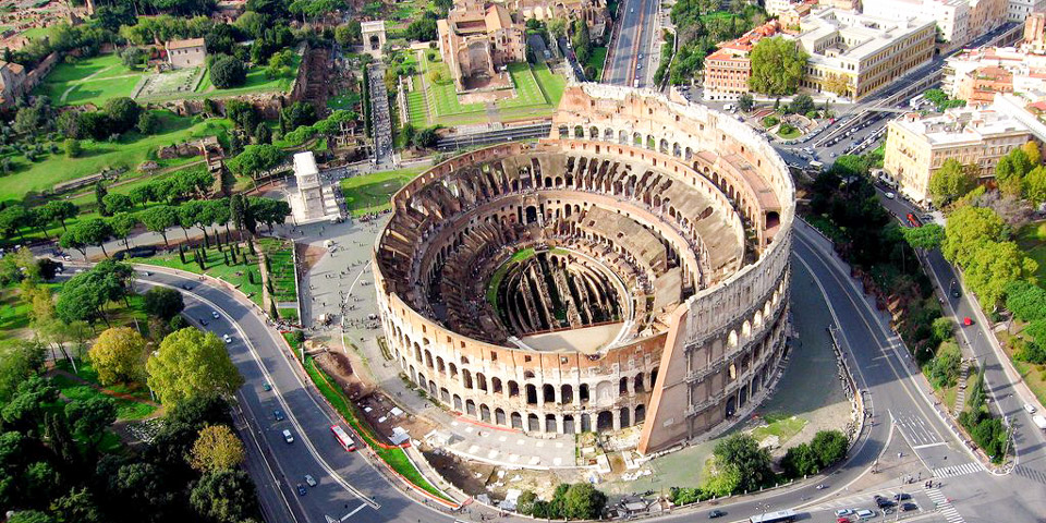 External view of the colosseum