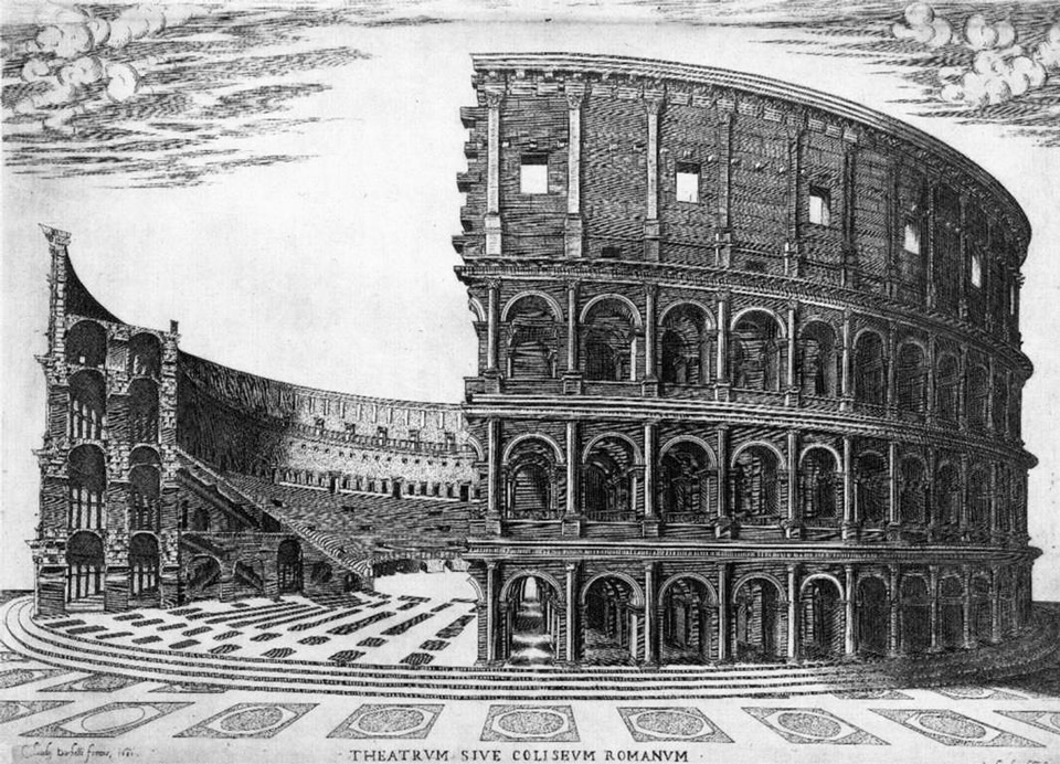 Colosseum in the middle ages