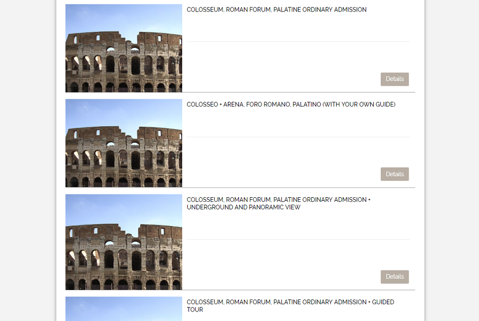 underground and arena of colosseum tickets