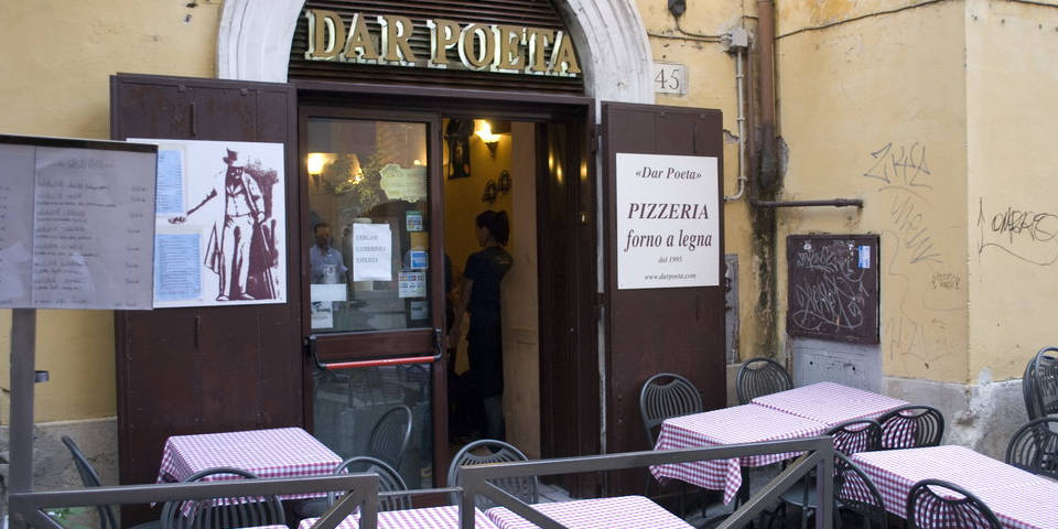 Dar Poeta best pizza in Rome