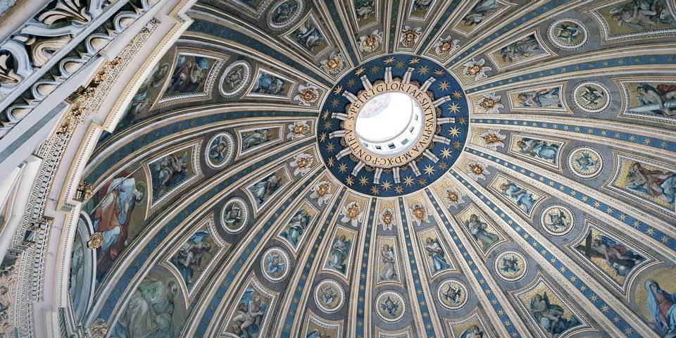 the cupola of st peters basilica