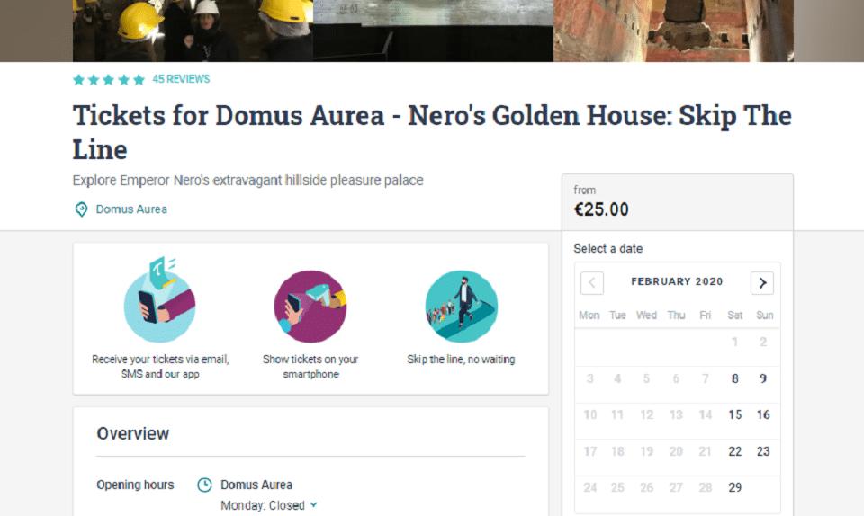 domus aurea group tour