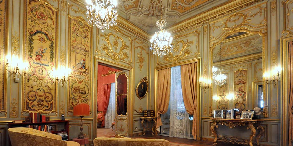the galler of Doria Pamphilj inside