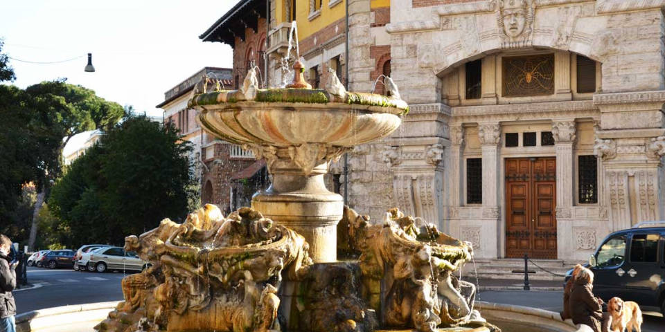 fountain of frogs