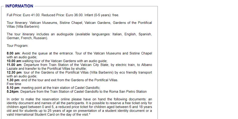 how to visit vatican gardens