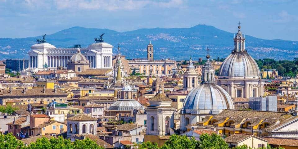 Gianicolo hill in Rome