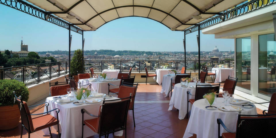Sina Bernini Bristol Hotel in Rome with Rooftop terrace