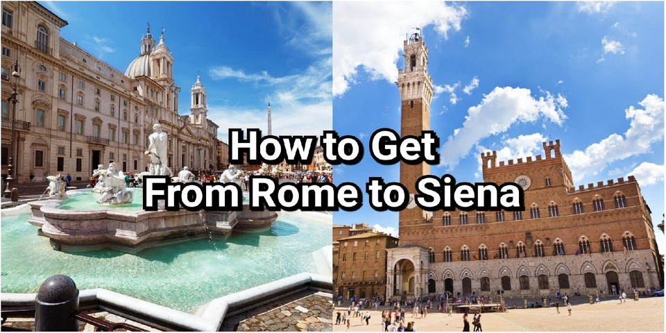 how to get from rome to siena
