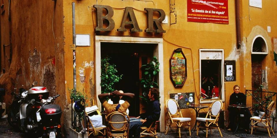 Cafe bar in Rome