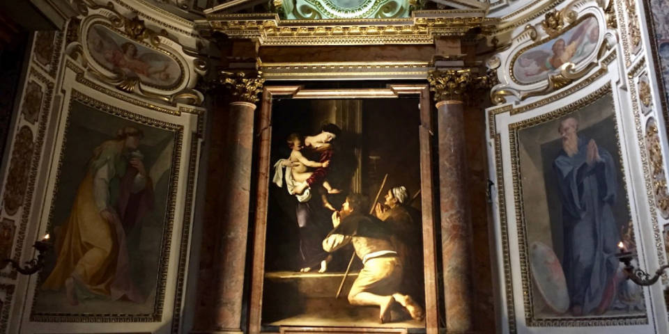Madonna di Loreto art work of Caravaggio